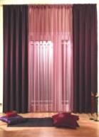 шторы однотонные